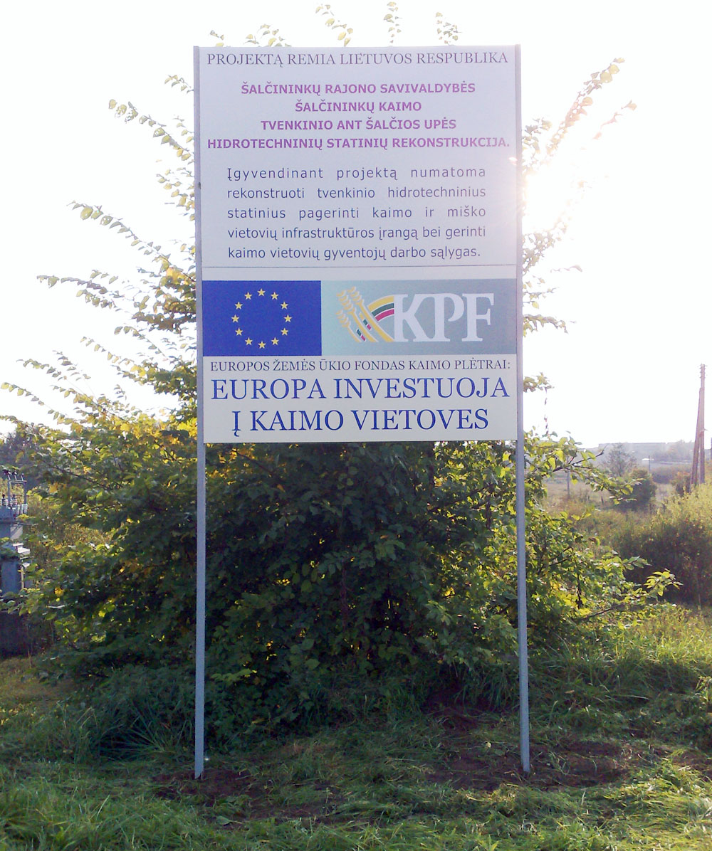 KPF viešinimo skydų stendų gamyba