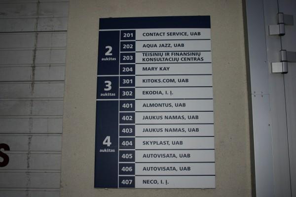 """Informacinių lentelių ir stendų gamyba """"AUTOVISATA"""""""