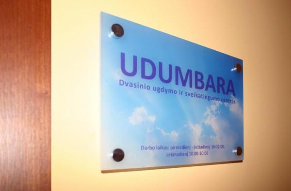 Iškabų iš organinio stiklo gamyba UDUMBARA
