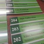 Lenteles kabinetams is aliuminio profilio cosign