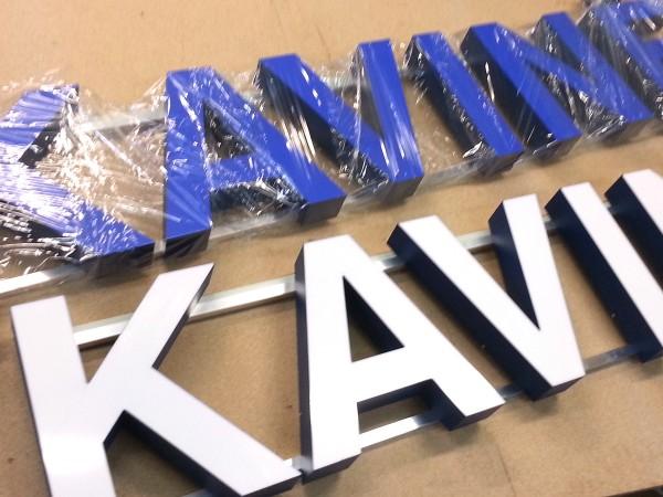 """LED tūrinių raidžių gamyba """"Kavinė"""""""