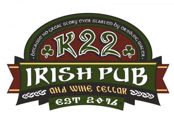 """Iškabos gamyba ir logotipo sukūrimas """"Irish Pub K22"""""""